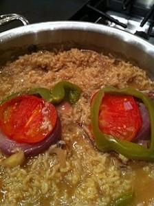 rice pork chops